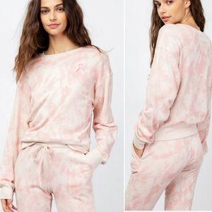 Rails   Ramona Warrior Pink Tye Dye Sweatshirt (S)